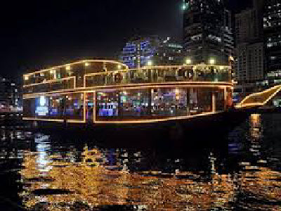 dhow cruise night view