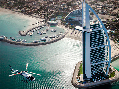 Helicopter-At-Burj-Al-Arab
