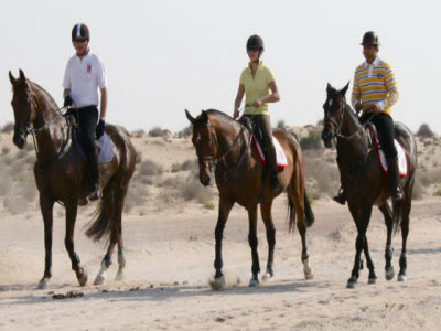 Horse Riding in desert