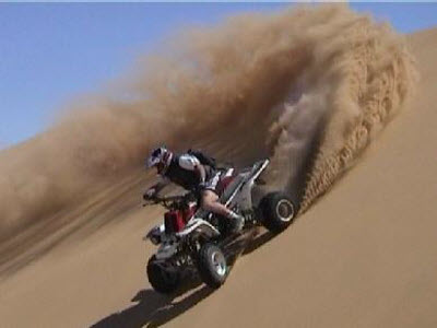 Quad biking in desert safari